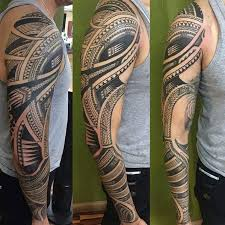 40 polynesian sleeve tattoo designs for men tribal ink ideas
