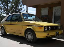 volkswagen hatchback 1990 autopilot picture cars for film 1990 volkswagen cabriolet yellow