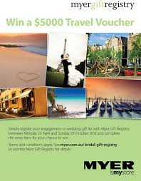 wedding registry travel win a travel voucher simply register your wedding or gift list