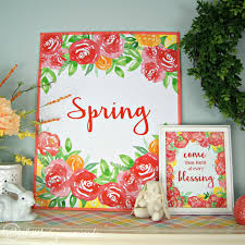 spring printable with coral peonies 3 little greenwoods
