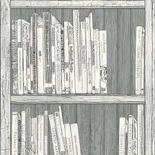 statement grey u0026 white bookcase wallpaper departments diy at