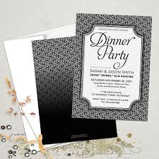 Black And White Invitation Card Stylish Black White Dinner Party Invitations Partyinvitecards