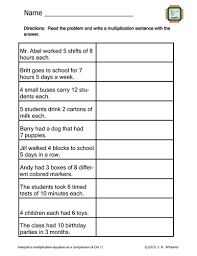 create multiplication sentences worksheet 4 oa 1 by wheelsjr