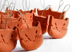 adorable recycled paper pressed pets ornaments turn green