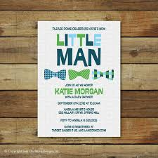 little man bow tie baby shower invitations party xyz