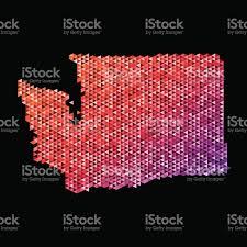 Washington State Map by Washington State Map Triangle Pattern Orange Stock Vector Art