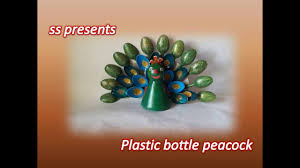 best out of the waste plastic bottle and plastic spoons peacock