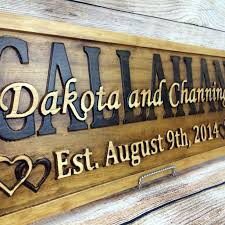 wedding gift by year buy a made last name established sign family name signs