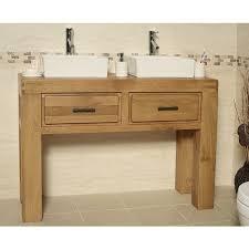 Oak Bathroom Vanity Units Milan Double Oak Free Standing Bathroom Vanity Unit Click Oak