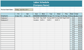 Staffing Schedule Template Excel Excel Schedule Schedule Templates
