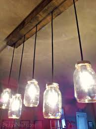 Jar Pendant Light Decorating Clear Glass Mason Jar Pendant Light Shade Feature