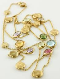 yellow gold gemstone necklace images Marco bicego multicolored gemstones 18k yellow gold jaipur jpg