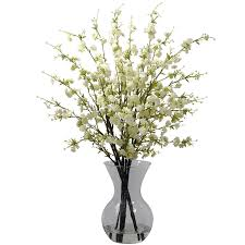 amazon com nearly natural 1315 pk cherry blossoms with vase