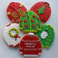 super deluxe ugly christmas sweater cookie gift set vanilla 12