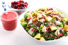 leftover turkey quinoa salad with cranberry vinaigrette