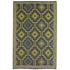 Yellow And Gray Outdoor Rug Fab Habitat Lhasa Empire Yellow Gray Outdoor Rug R788581182468