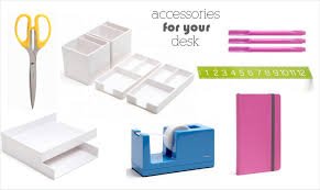 White Desk Accessories by With An I E Desk Accessories