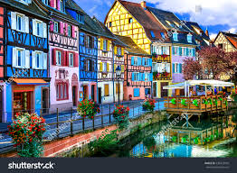 amazing beautiful places france colorful colmar stock photo