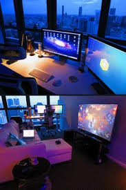 30 Coolest And Inspiring Multi Monitor Gaming Setups by Pin By Abbie Giffin On My Boyfriend Gets On My Pinterest