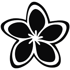 jasmine png black and white transparent png images pluspng