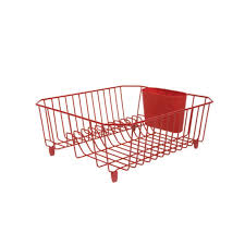 Dish Drainer Rubbermaid Red Dish Drainer 1858899 Sinkware Ace Hardware