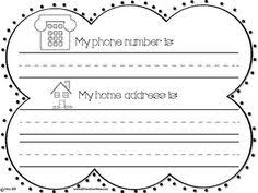 printable teach your kids their name address and phone number