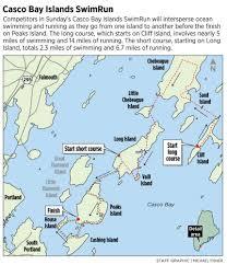 Long Island On Map For Endurance Athletes Worth Their Salt Casco Bay Islands Swimrun