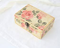 Decoupage Box Ideas - sale decoupaged tea box gift ideas kitchen decor wooden