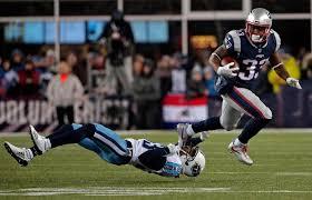 Nfl Challenge Flag Tennessee Titans 14 35 New England Patriots Nfl Playoffs Recap