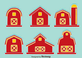 red barn on blue vector download free vector art stock graphics