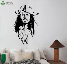 wall decals kids promotion shop for promotional wall decals kids captain jack sparrow wall decal removable vinyl wall stickers for kids rooms pirates of the caribbean playroom decor mural sy334