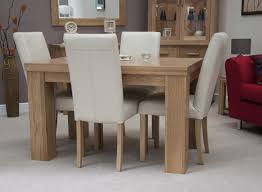 Oak Dining Furniture Solid Wood Casual Rustic Dining Room Table And Chair Set Solid