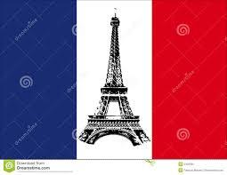 Frenxh Flag France Flag With Tour Eiffel Stock Vector Image 5429585