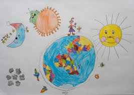 Children S Map Of The World by Me And My Planet Earth Children Map Their World