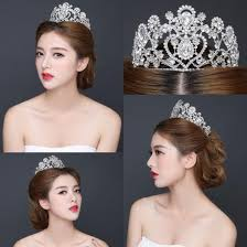 wedding crowns hair accessory silver shining bridal growns dubai wedding crowns