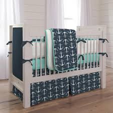 Teal Crib Bedding Sets Navy Anchors 3 Piece Crib Bedding Set Carousel Designs