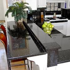 modern minimalist kitchen design with black pearl granite