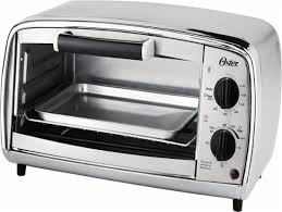 Toaster Oven And Microwave Oster 4 Slice Toaster Oven Silver Tssttvvgs1 Best Buy
