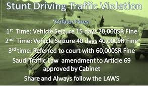Ministry Of Interior Saudi Arabia Traffic Violation Latest Amendments In Saudi Traffic Rules Arabian Gulf Life