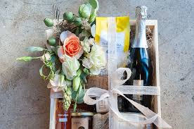 high end gift baskets about esters wine shop bar