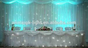 wedding backdrop material fireproof led cloth curtain with high quality for wedding