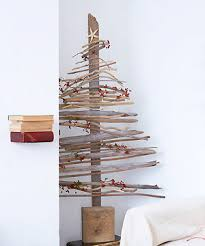 natural home design recycled driftwood christmas tree ideas