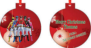 personalized power rangers ornament add any message you want ebay