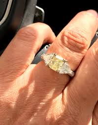 canary engagement ring heidi klum canary ring weddingbee