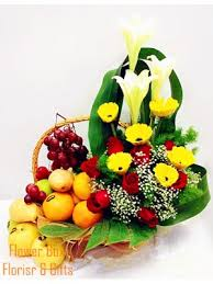 fruit flowers baskets fruit flower basket flower box
