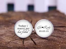 personalized wedding cufflinks today i my best friend personalized cufflinks custom name