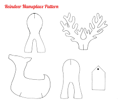paper reindeer pattern christmas shapes google search