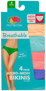 Louisiana travel underwear images Fruit of the loom women 39 s breathable bikini panties pack of 4 at jpg