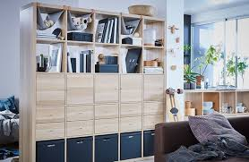 Oak Room Divider Shelves Kallax Ikea