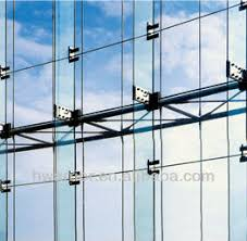 Curtain Wall Engineering Point Fixing Glass Curtain Wall For Building View Glass Curtain